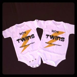 We're Twins, What's Your Superpower? Onesies, 3M